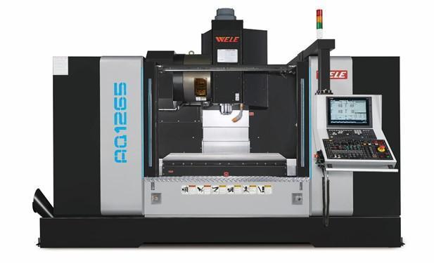 Máy phay đứng CNC WELE AQ series trục chính điện
