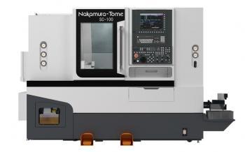 Máy tiện CNC hai đầu trục chính Nakamura Tome SC100